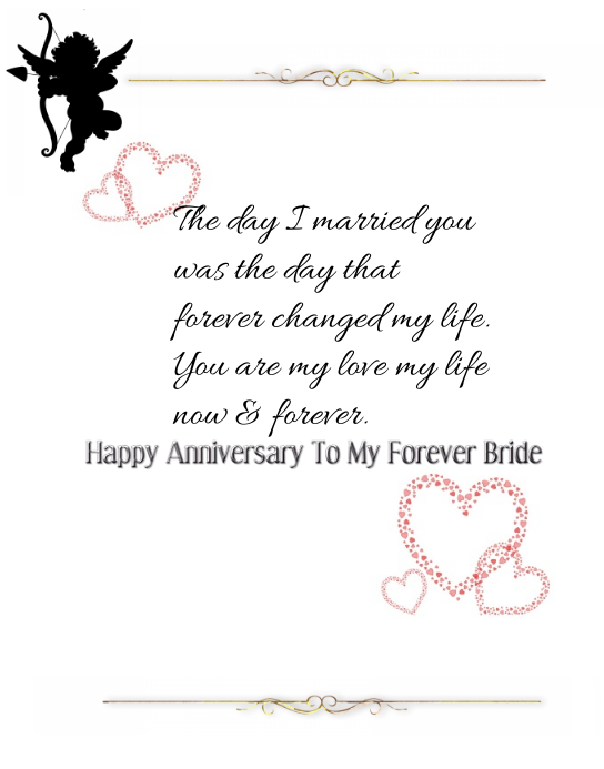 Wedding Anniversary Card For Her Template  Postermywall