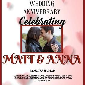 WEDDING ANNIVERSARY CARD SOCIAL MEDIA Post Instagram template