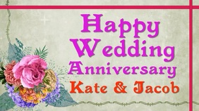 Wedding anniversary card video wishes