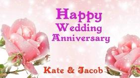 Wedding anniversary digital card template