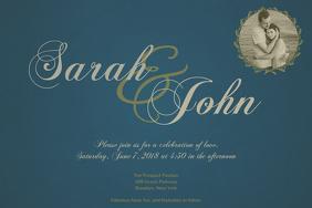 Wedding Anniversary Event Invitation template for Wedding