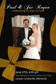 Wedding Anniversary Flyer Template