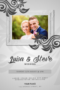 Wedding Anniversary Invitation Flyer Template