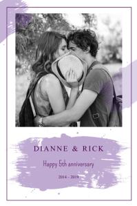 Wedding Anniversary Portrait Poster