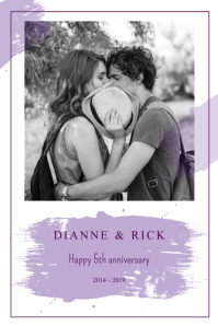 Wedding Anniversary Portrait Poster