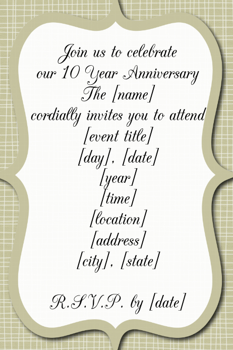 wedding anniversary reception invitation dinner dance flyer