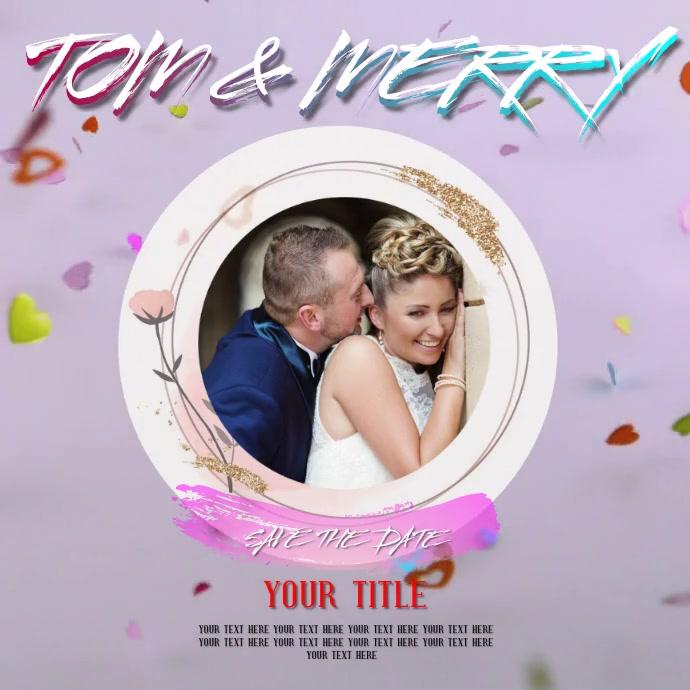 WEDDING ANNIVERSARY VIDEO TEMPLATE Logo
