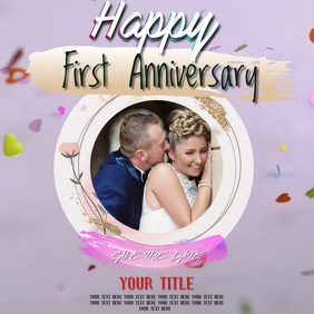 WEDDING ANNIVERSARY VIDEO TEMPLATE Logo