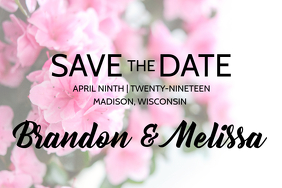 Wedding Announcement, Save the Date