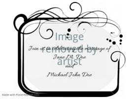 Wedding announcement invitation - Swirl