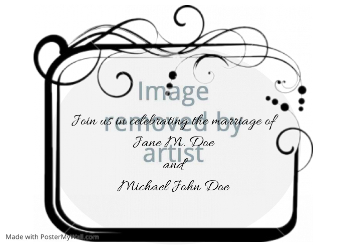 wedding announcement invitation swirl template postermywall