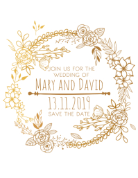 Wedding Announcement Save the Date Template