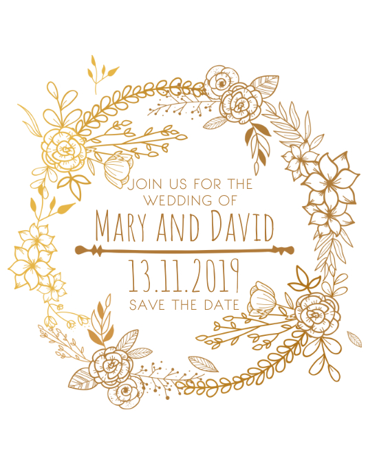 wedding announcement save the date template postermywall