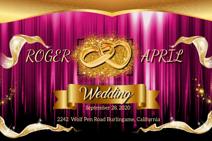 Wedding Background Templat Postermywall