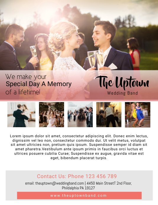 wedding band flyer template postermywall