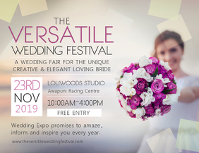 Wedding Bridal Fair Event Landscape Flyer