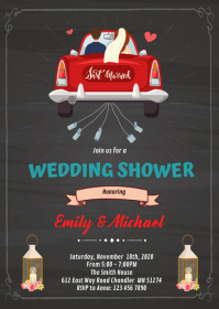 Wedding car theme invitation