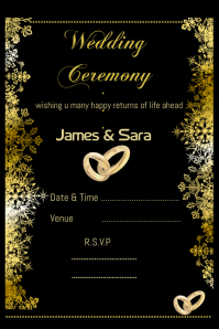 Wedding card design template,invitation card design
