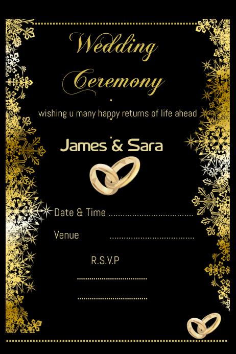 Wedding Card Design Template Invitation Card Design