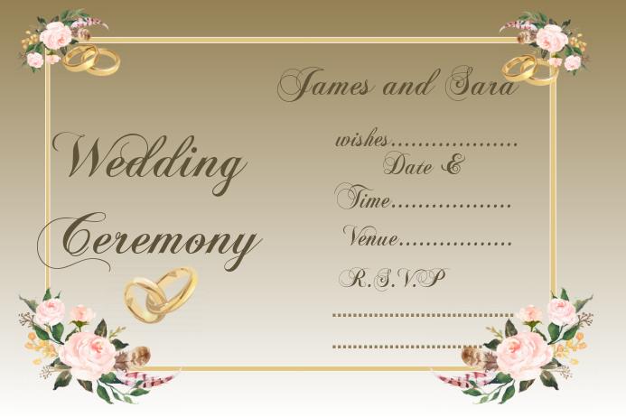 Wedding card design template,invitation card design