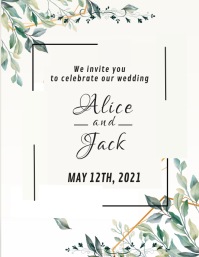 Wedding card design template Pamflet (VSA Brief)