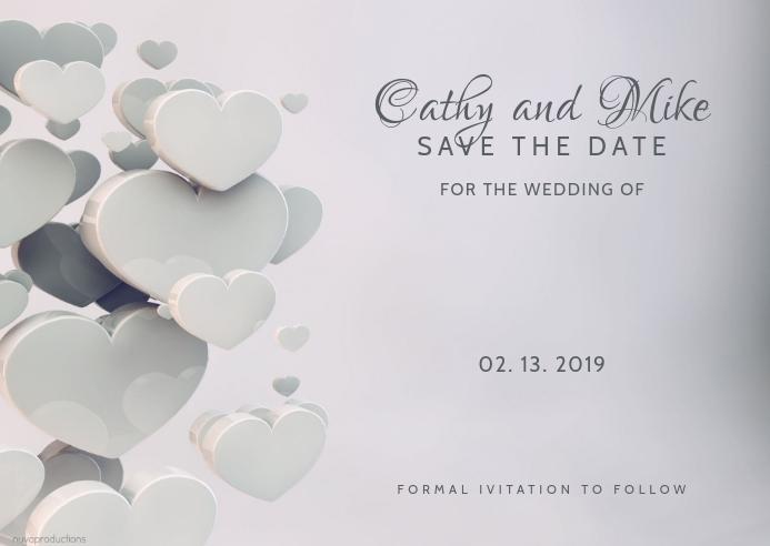 wedding card ไปรษณียบัตร template