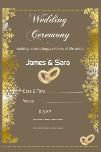 wedding card flyer,poster,invitation card design template
