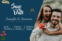 wedding card template Poster
