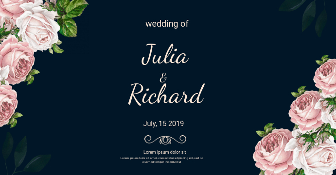 wedding card template-facebook event cover
