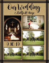 Wedding Collage - Classy Flyer (US Letter) template