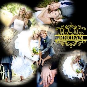 Wedding Collage โพสต์บน Instagram template