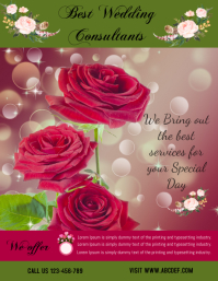 Wedding consultants flyer,poster ,professional services