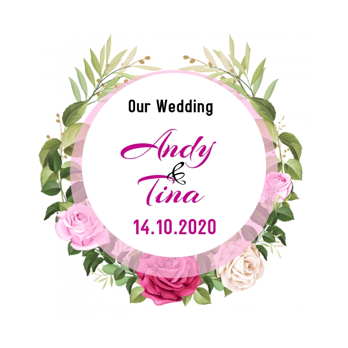 Wedding Date Albumcover template