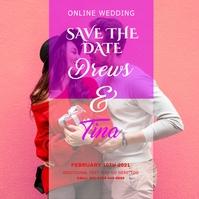 wedding date Instagram 帖子 template