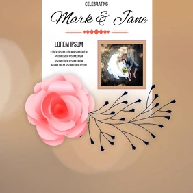 wedding day CARD SOCIAL MEDIA TEMPLATE