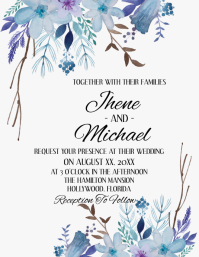 Wedding Flyer (US Letter) template