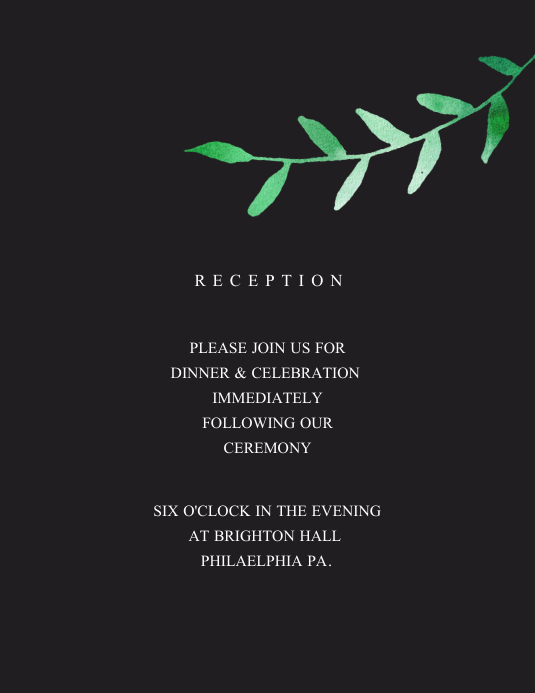 Wedding Flyer (US Letter) template