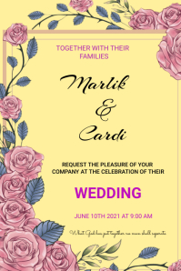 Wedding Plakkaat template