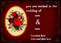 wedding Postkort template