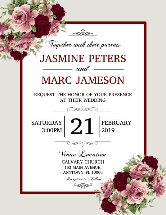Wedding Folder (US Letter) template