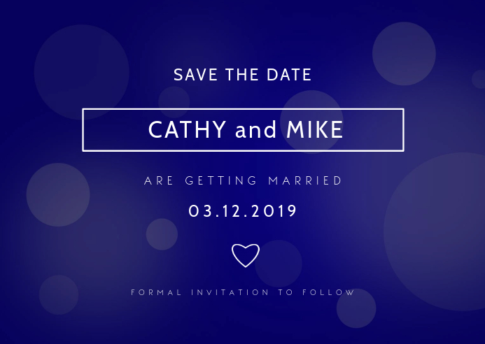 wedding ไปรษณียบัตร template