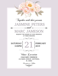 picture regarding Wedding Stationery Printable identify Personalize 1,890+ Wedding day Templates PosterMyWall