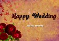 wedding Poskaart template