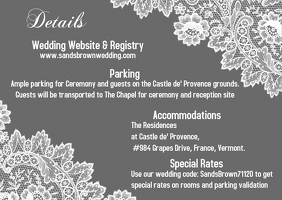 Wedding Details Card