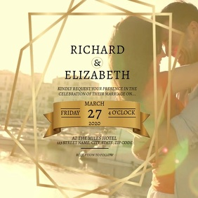 Wedding DIGITAL VIDEO Invitation Template