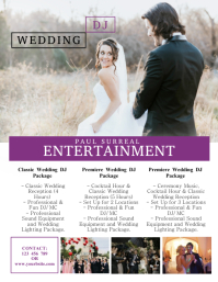 Wedding DJ Flyer Template