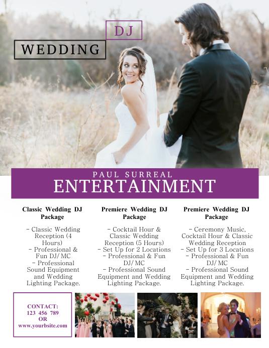 Wedding Dj Flyer Template Postermywall