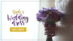 Wedding Dress Sale Video Facebook 封面视频 (16:9) template