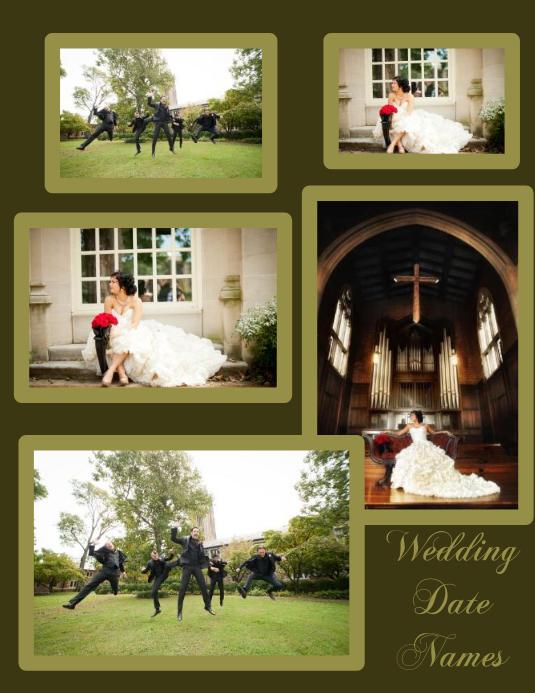 Wedding Engagement Anniversary Collage