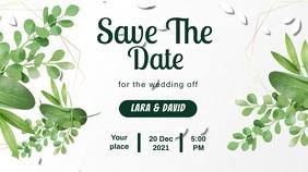 wedding engagment invitaion Digitale Vertoning (16:9) template